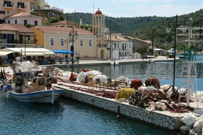 Vathi Meganisi harbour